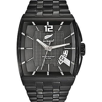 58e36ddfa5 *Info boutique All Blacks - 680093 - Montre Homme - Quartz Analogique -  Cadran Noir - Bracelet Acier Noir.