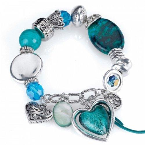 Divadoo Turquoise Bracelet Featuring Semi Precious Stones