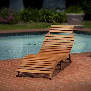 Lahaina Wood Outdoor Chaise Lounge Patio Chaise Lounge Covers