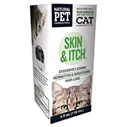 King Bio Homeopathic Natural Pet Cat - Skin and Itch - 4 oz - Gluten Free -