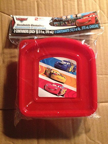 Disney Cars Sandwich Containers 2 Pack