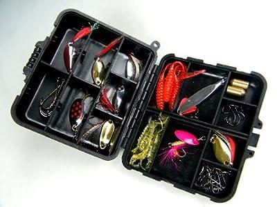 1set(33pcs in 1box) Laser Spinner Metal Lure Soft Fishing Lure Box Set Kit from thkfish