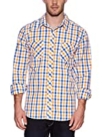 Urban Classics Camisa Hombre (Naranja)