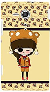 PRINTVISA Cartoon Pattern Girl Case Cover for Sony Xperia SP