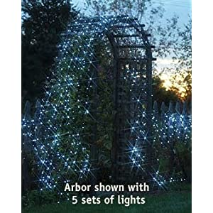 Click to read our review of Christmas Solar Lights: Solar-Powered String Lights, Blue
