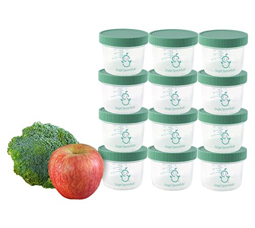 Sage Spoonfuls Big Batch Storage Set, 4 Ounce (Pack of 12) (Plastic Baby Food Jars compare prices)