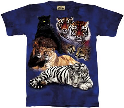 The Mountain Big Cat Collage Tigers Lions Tee T-shirt