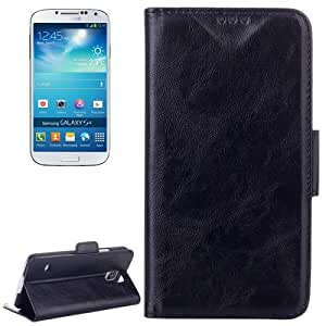 Oil Leather Case with Credit Card Slot & Holder for Samsung Galaxy S4 / i9500 (Black)