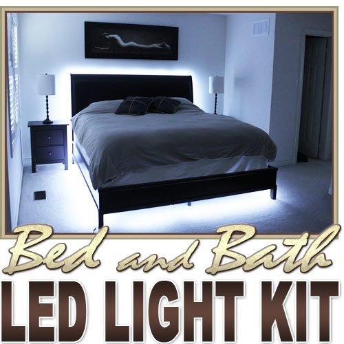 Biltek® 6' ft Cool White Bath Tub Sink Mirror LED Strip Lighting Complete Package Kit Lamp Light DIY - Headboard Closet Make Up Counter Mirror LED Strip Lamp Waterproof 3528 SMD Flexible DIY 110V-220V