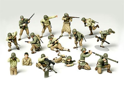 Buy Low Price Tamiya 1/48 WWII US Army GI Set Figure (B000BLI6PE)