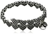 "Alex and Ani ""Valentine's Day Collection"" Romance Hearts Wrap Rafaelian Bangle Bracelet"