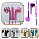 ANYPHONE Colorful Luxury Headset Headphone Earphone Volume Remote+Mic For iPhone4 5 iPad3 4 ipod (3 Metallic Silver)