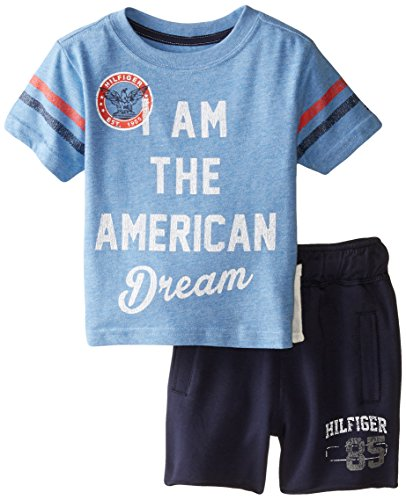 Tommy Hilfiger Baby Boys America Tee Set Placid Blue 24