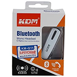 KDM Smart Bluetooth Headset, Bluetooth Headset Hands-Free Wireless Earphone Noise cancellation Headphone With Bluetooth Version 4.0 for iPhone,Android Phone ,Windows Phone Most Other Smart-phones and Bluetooth Devices,Support Music Playing