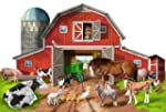 Melissa & Doug Busy Barn Shaped Floor...