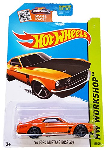 Hot Wheels Hw Workshop Orange '69 Ford Mustang Boss 302 - 2015 Speed Team 195/250