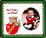 Am I Cute? Christmas Photo Magnet Frame