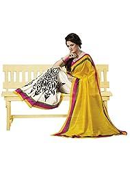 Infigo Women Multicolor Dupion Silk Printed Saree