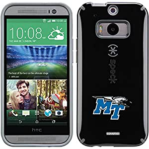 Coveroo CandyShell Case for HTC One M8 - Retail Packaging - Black/Middle Tennessee State Primary Mark Design