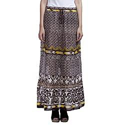 MansiCollections Women's Causal Printed A-Line Skirt (28)
