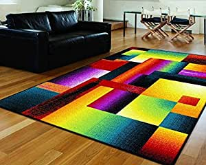 Rhapsody Multi Colored Area Rug Kitchen Dining