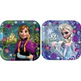 Disneys Frozen Party 7x7 Square Cake/Dessert Plates, Pack of 8, Assorted