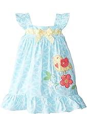 Good Lad Little Girls' Bird Applique Dress