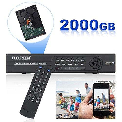 FLOUREON® 8 Kanal HDMI 960H/D1 DVR CCTV Video Capture 4x 600TVL Wasserdicht IP66 Kamera Video Überwachungskamera HDMI Sicherheitsystem Set Kit