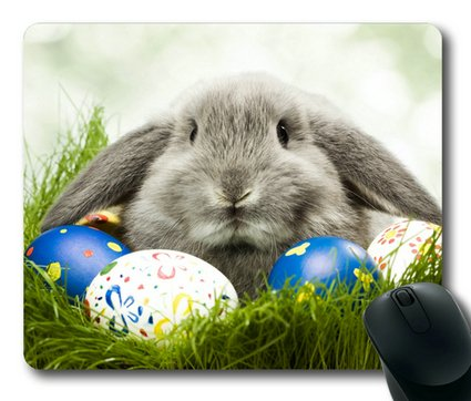 Sakuraelieechyan Easter Rabbit Rectangle Mouse Pad front-260039