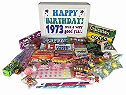 1973 43rd Birthday Gift Basket Box Jr. Retro Nostalgic Candy Born \'70s
