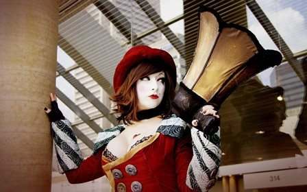 Fashion Borderlands Mad Moxxi cosplay women brunettes uniform costume cleavage redhead sexy babes models Home Decoration Canvas Poster (Angkor Wat Model compare prices)