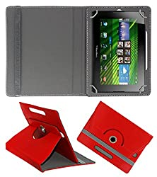ACM ROTATING 360° LEATHER FLIP CASE FOR BLACKBERRY PLAYBOOK TABLET STAND COVER HOLDER RED