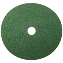 "Norton GreenLyte SG F968 Abrasive Disc, Fiber Backing, Aluminum Oxide, 7/8"" Arbor, 7"" Diameter, Grit 36  (Box of 5)"