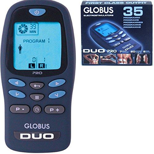 Globus DUO PRO elettrostimolatore 2 canali 35 prog. 180 applicazioni Sport Fitness Bellezza Salute Tens