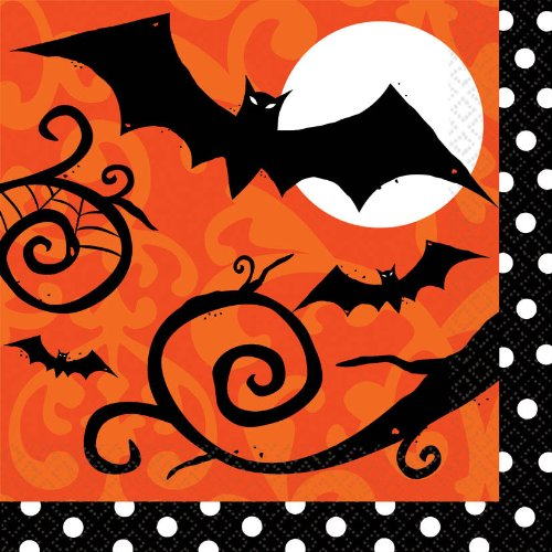 Frightfully Fancy Halloween Lunch Napkins (36 count) CoolGlow