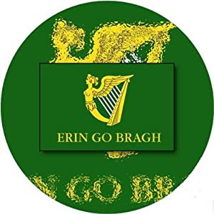 58mm Round Badge Style Fridge Magnet Erin Go Bragh Flag