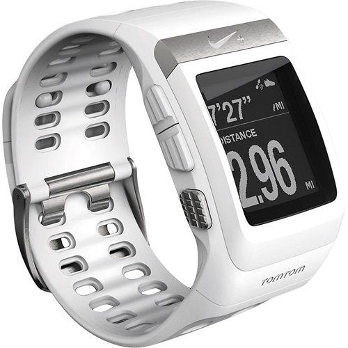 耐克 Nike SportWatch GPS 动力由 TomTom (白/银) 时钟只是身体 [平行进口货物]。