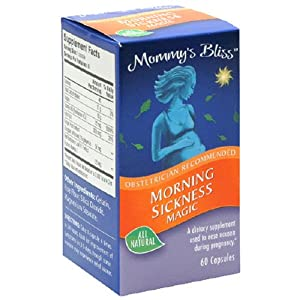 Mommy's Bliss Morning Sickness Magic, 60-Count Capsules (Pack of 2)