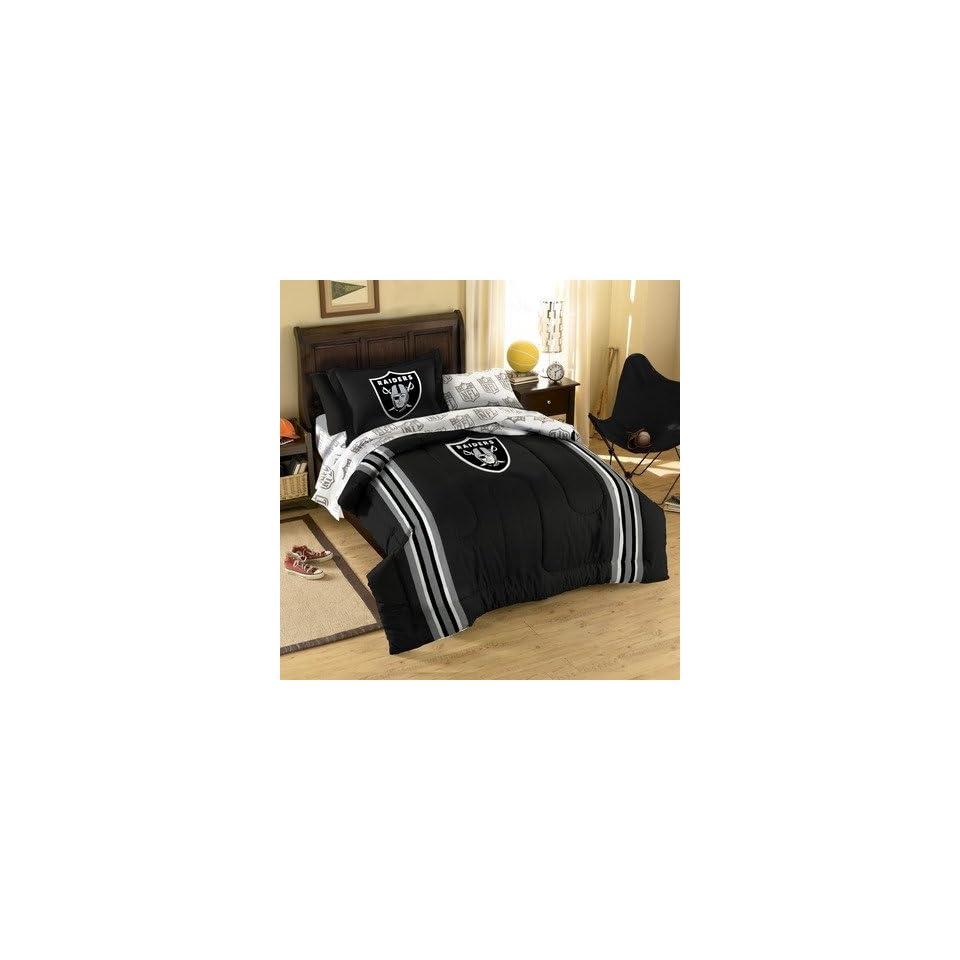 Northwest Co. 1NFL/4019/BBB NFL Oakland Raiders Bed in Bag Set