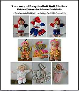 Doll Clothes Knitting Patterns for Cabbage Patch Dolls [Large Print