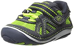 Stride Rite SRT SM Damien Sneaker (Infant/Toddler), Green/Blue, 3 W US Infant