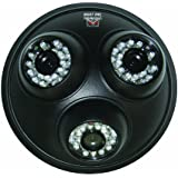 Night Owl Security CAM-3DM-624A 3-In-1 Dome Camera 600 TVL 50-Feet of Night Vision with Audio (Black)