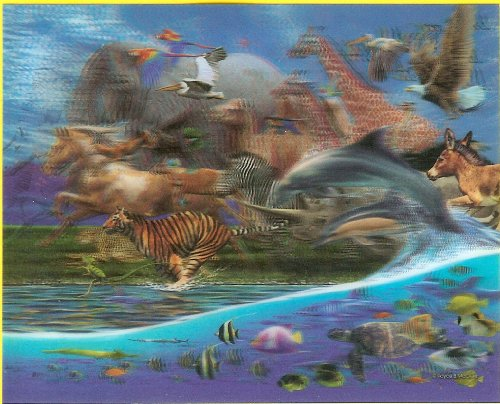 "Cheap Fun Visual Echo 3D ""Migration"" Lenticular Jigsaw Puzzle Effects – 500 pieces (B001M22VF2)"
