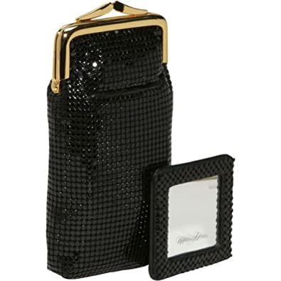 Whiting and Davis Long Cigarettes/Eyeglass Case with Mirror (Black)