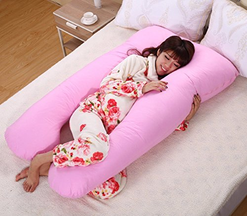 eight24hours-large-u-shaped-contoured-body-pregnancy-nursing-maternity-pillow-cozy-comfort-pink