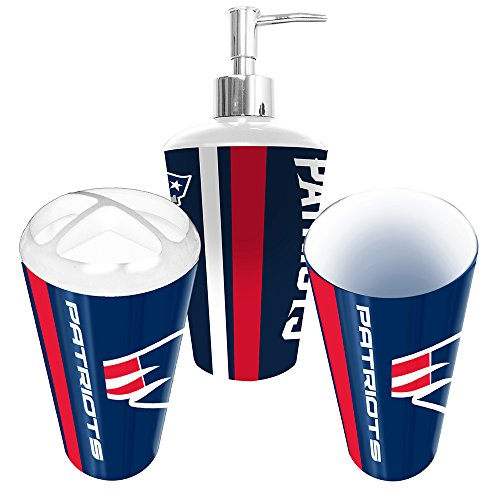 New England Patriots 3 Piece Bathroom Set Home Garden
