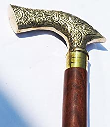 Shiv Shakti Enterprises Walking Stick with Designer Handel Wooden Canes for Men & Women Handmade Wooden Walking Sticks