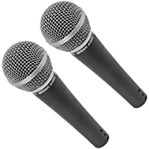 Seismic Audio - SA-M30 (Pack of Two) - Dynamic Microphone for Vocals
