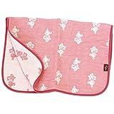hiorie(ヒオリエ) ガーゼケット 4重ガーゼ ベビーケット ミニケットサイズ 日本製 ケット クマ柄 ピンク