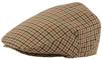 Classic Plaid Wool/Poly Blend Ivy Driver Golf Flat Cap (Large)